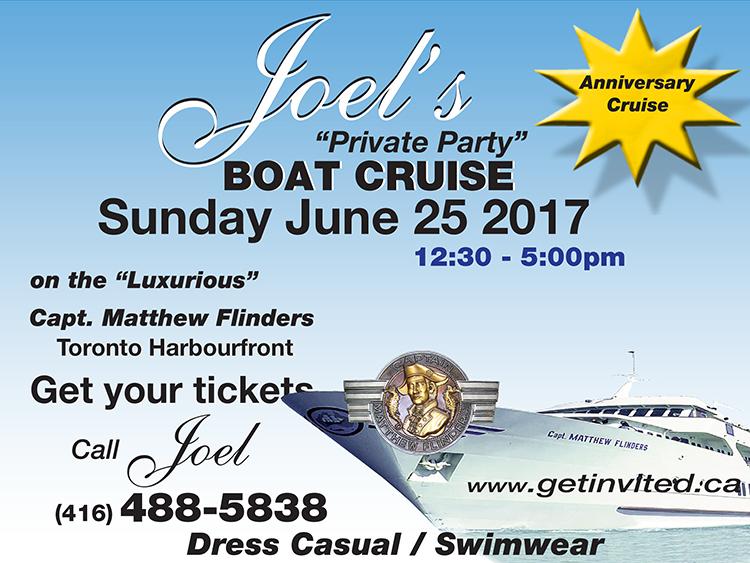 Joels Annual June Boat Cruise 2017