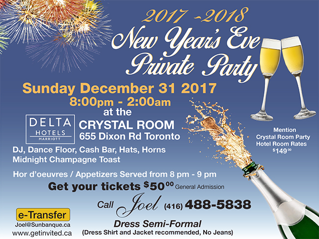 new years eve private party